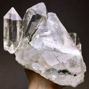 3740g Extreme Transparent Himalayan Skeletal Quartz Crystal & Epidote Specimen