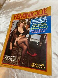 1970's FEMINIQUE Vintage Transsexual TS TV Magazine FREESHIP drag queen shemale