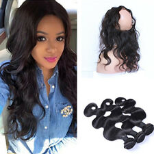 BRAZILIAN VIRGIN Human16 18 20 AND LACE  360, 22.5,16INCH BODYWAVE 430g FASTSHIP