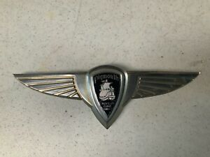 Vintage 1937 Plymouth Winged Trunk Badge / Emblem