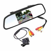 """Mini Coche Inversa Aparcamiento Cámara Con 4.3""""TFT LCD Espejo Retrovisor Kit 1"""
