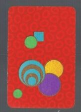 Swap Playing Cards 1 VINT ENG TRUE  DECO  DESIGN   CIRCLES & MORE CIRCLES 112