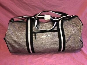 NIP Victoria Secret PINK Large Grey Weekender Duffle Tote Bag Super Cute!! ❤️❤️