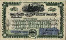 Max Baer Issued Peoria & eastern Railway Stock Certificate