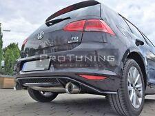 VW Golf 7 VII MK7 Rear Bumper Spoiler Diffuser GTI look exhaust diffuzer addon