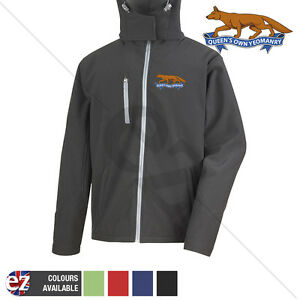 Queens Own Yeomanry - Hooded Softshell Jacket - Personalisation