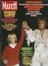 paris match n°1593 johnny hallyday david james scott veronique jannot