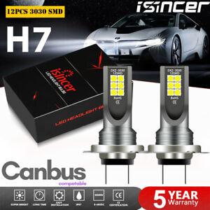 2X H7 LED Fog Light 160W Bulbs Daytime Lamps Xenon White 15000Lm 6000K Canbus UK
