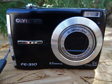 Olympus FE-310 8.0MP Digital Camera - Black with Batteries + USB Data Cable