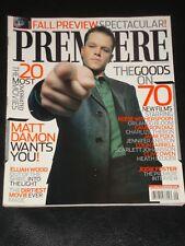 PREMIERE magazine 2005, Matt Damon, Elijah Wood, Jodie Foster, Overrated Movies