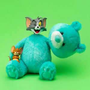 """Tom and Jerry"" Teddy Bear ver. Tom Figure Plush Turquoise Genuine"