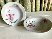 2 Vintage Corelle Bowls ROSE PORTRAIT Corning Excellent Condition Pink HTF
