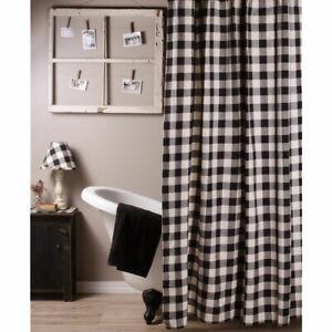"Buffalo Check Black and Buttermilk 72"" x 72"" Shower Curtain by Raghu"
