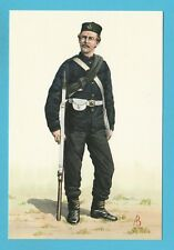MILITARY  -  ALIX  BAKER  POSTCARD  -  PRIVATE OF 43RD REGIMENT OF 1863 - 66