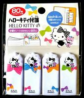 New SANRIO Hello Kitty Cute Tag label 80 piece sticky Note Face ribbon