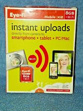 New Opened EYE-FI Mobile X2 8GB + Wi-Fi Class 6 SDHC Memory Card Instant Uploads
