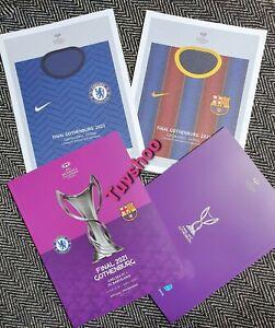 CHELSEA v BARCELONA Womens Champions League Final Programme 2021 IMMEDIATE POST!