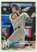 2018 Topps Chrome GLEYBER TORRES Prism Refractor Rookie Card RC