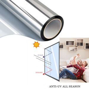 One Way Window Film Privacy Tint UV Blocking Reflective Heat Control For House