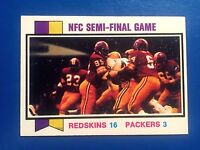 1973 Topps NFC Semi Final Game #135 Redskins Packers