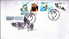 2014 AAT Era of The Husky (Gummed Stamps) FDC - Kingstom Tas 7050 PMK
