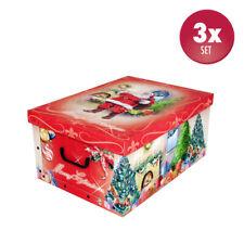 3 Stück Deko Karton Geschenkkarton Box Schachtel Geschenkpapier Weihnachten