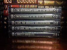 Folio Society Douglas Adams 5 Volume Hitchhiker Guide to Galaxy Set New Sealed