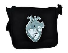 Anatomical Human Heart Messenger Bag Cross Body Handbag Medical Style