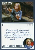 Star Trek TOS Archives & Inscriptions card #14 DR Elizabeth Dehner Var 13 of 17