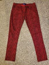 Red Jeans Stretch Skinny Womens Size 17 [ANIMAL PRINT]