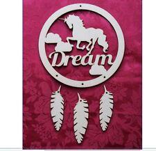 MDF Wooden Unicorn dream mdf wooden dream catcher craft hanger Craft wall doo...