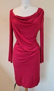 Vivienne Westwood Anglomania Red Jersey Drape Dress L UK 12 BNWT