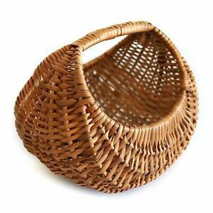 Bamboo Multiutility Eco-Friendly Wicker Farmer's Basket ( Natural)