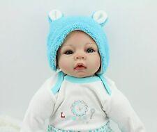 "handmade bebe Reborn Baby Boy doll 22"" Soft Vinyl Realistic Likelife Newborn toy"