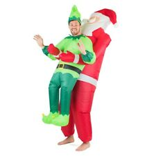 Adults Inflatable Santa and Elf Christmas Fancy Dress Costume