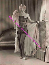 ACTRESS JOAN BLONDELL SEXY IN BLACK LACE AND NYLONS LEGGY PHOTO A-JB13