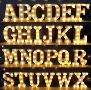 UK Large LED Light Up Alphabet Letters Standing Sign for Home Bar Love Decor A-Z