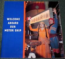 Vtg Soviet Marine Booklet Cruise Liner ADJARIA Ship Deck Plan USSR Odessa USSR