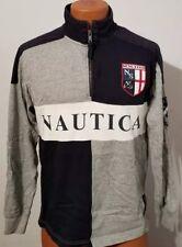 Nautica Men's pullover 1/4 zip long sleeve Shirt XS Signaux Maritimes X-Small