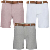 Tokyo Laundry Men's Kari Chino Shorts With Belt Smart Summer Casual Jean Turn Up