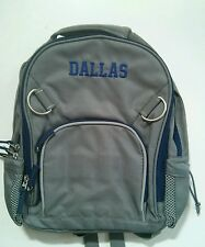 Pottery Barn Kids Small Fairfax Gray Blue Backpack with name DALLAS New!