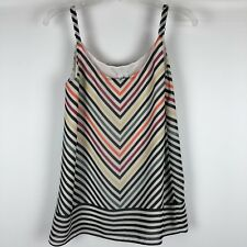 CAbi Linea Cami Style 5043 Striped Tank Top Size XS Adjustable Straps