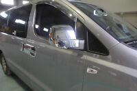 Chrome Side Mirror Cover Molding 2p for 2008 ~ 2015 Hyundai iLoad iMax