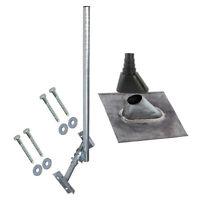 Dachsparrenhalter 120cm Mast SAT Sparrenhalter Blei Ziegel Aufdach Montage Set