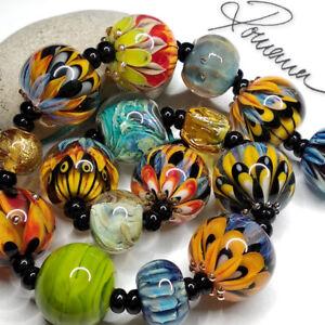 RomanaLampworkBeads > 16 < Mix Lampwork Focal Beads >