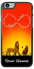 Lion King Hakuma Matata Personalized Phone Case Any Text for iPhone Samsung etc