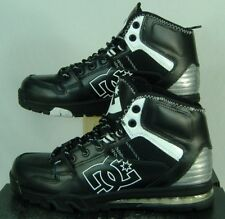 New Mens 7 DC Versatile WR High Black White Leather Skate Shoes $100