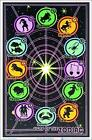 """Signs of The Zodiac Laminated Blacklight Poster - 23.5"""" x 35.5"""""""