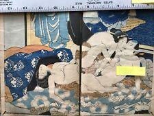SHUNGA 'ehon' Book, Vintage, Japanese antique erotica, Artist unattributed