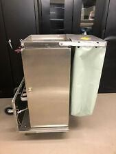 Royce Rolls F36 stainless steel janitorial cart w/folding base Clean!